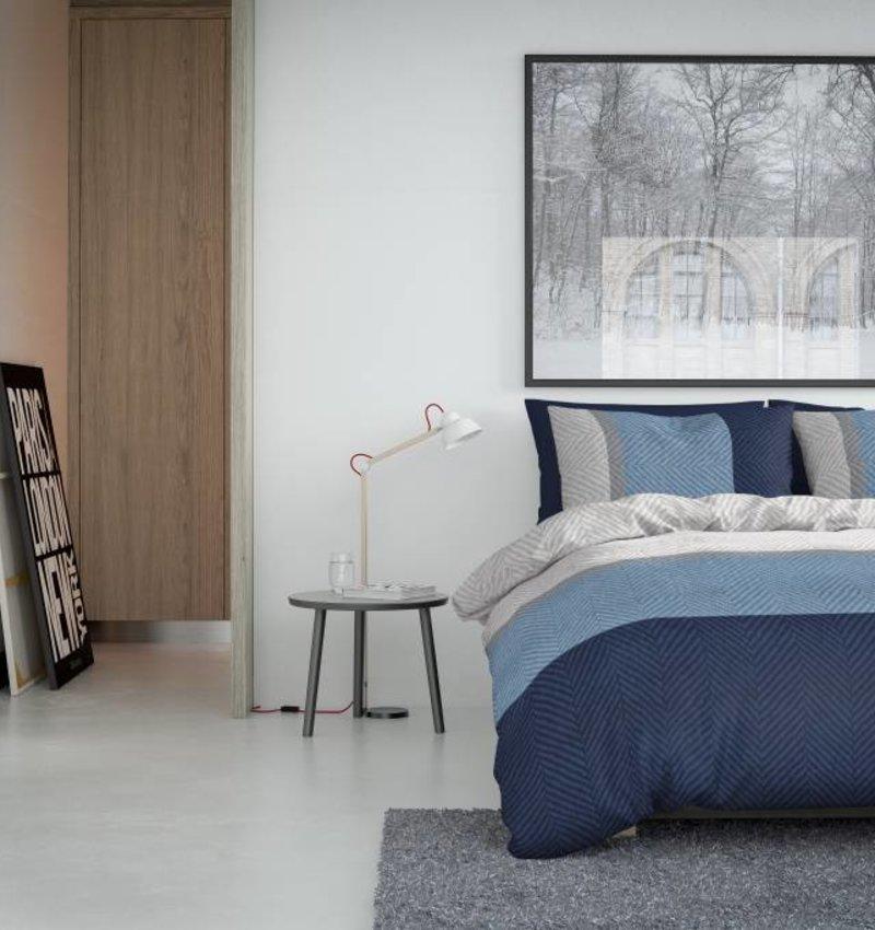 Nightlife Bettwäsche Trisha Blau  - DE - 135x200 - 80x80 (1) mit Reissverschluss