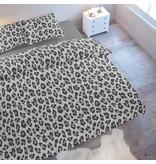 Wake-Up! Bedding Bettwäsche Leopard Grau - DE - 135x200 - 80x80 (1) mit Reissverschluss