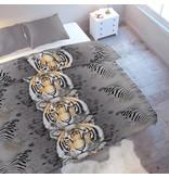 Wake-Up! Bedding Bettwäsche Tiger - DE - 135x200 - 80x80 (1) mit Reissverschluss