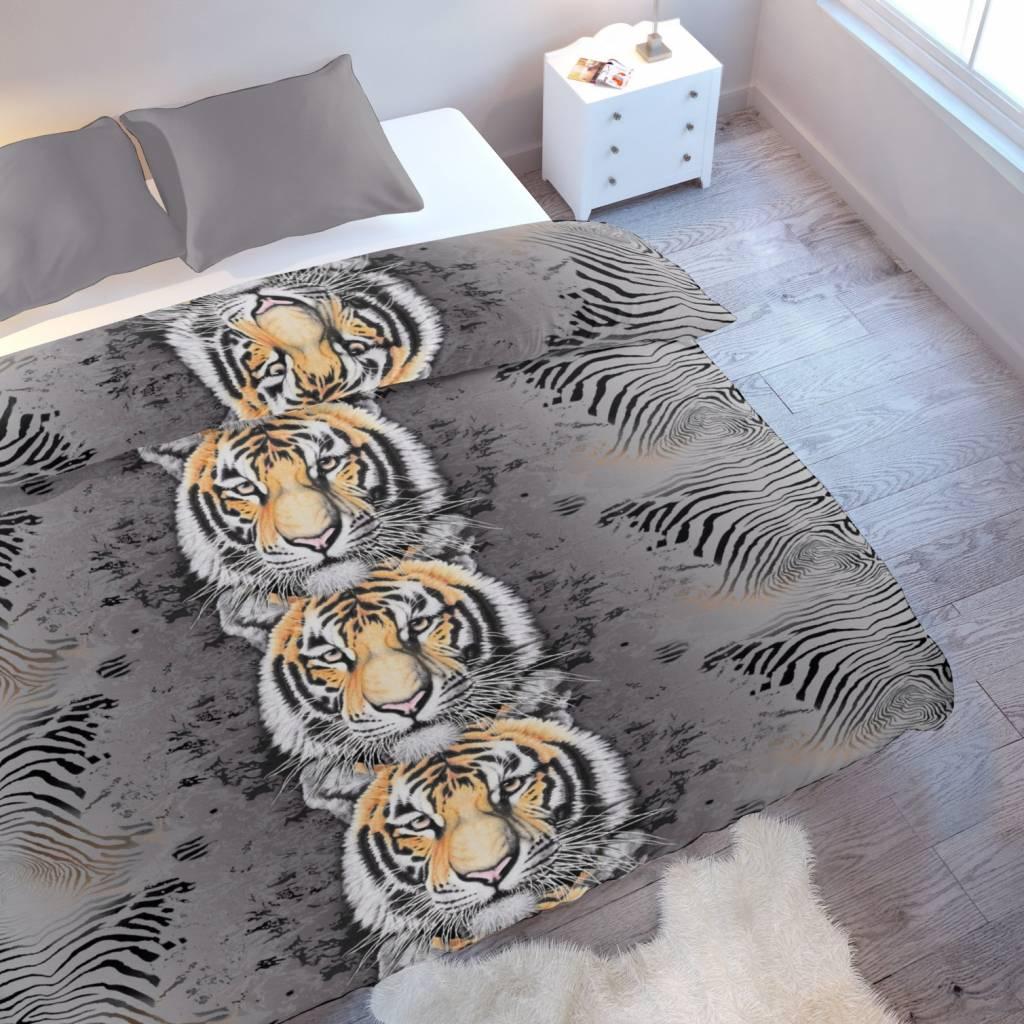 tiger bettwäsche satin