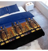 Wake-Up! Bedding Bettwäsche Skyline Colorful - DE - 135x200 - 80x80 (1) mit Reissverschluss