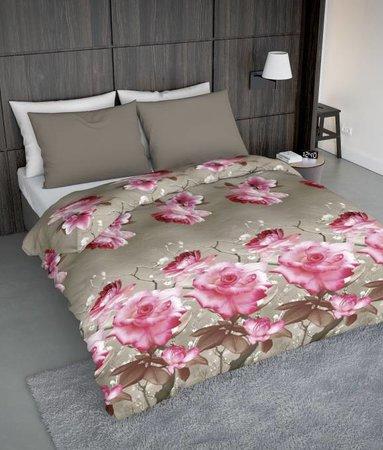 Wake-Up! Bedding Bettwäsche Pink Rosas - DE - 135x200 - 80x80 (1) mit Reissverschluss