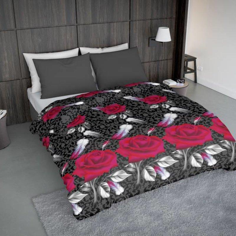 Wake-Up! Bedding Bettwäsche Rosa Feathers - DE - 135x200 - 80x80 (1) mit Reissverschluss