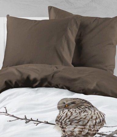 Nightlife Bettwäsche Owl  - DE - 135x200 - 80x80 (1) mit Reissverschluss