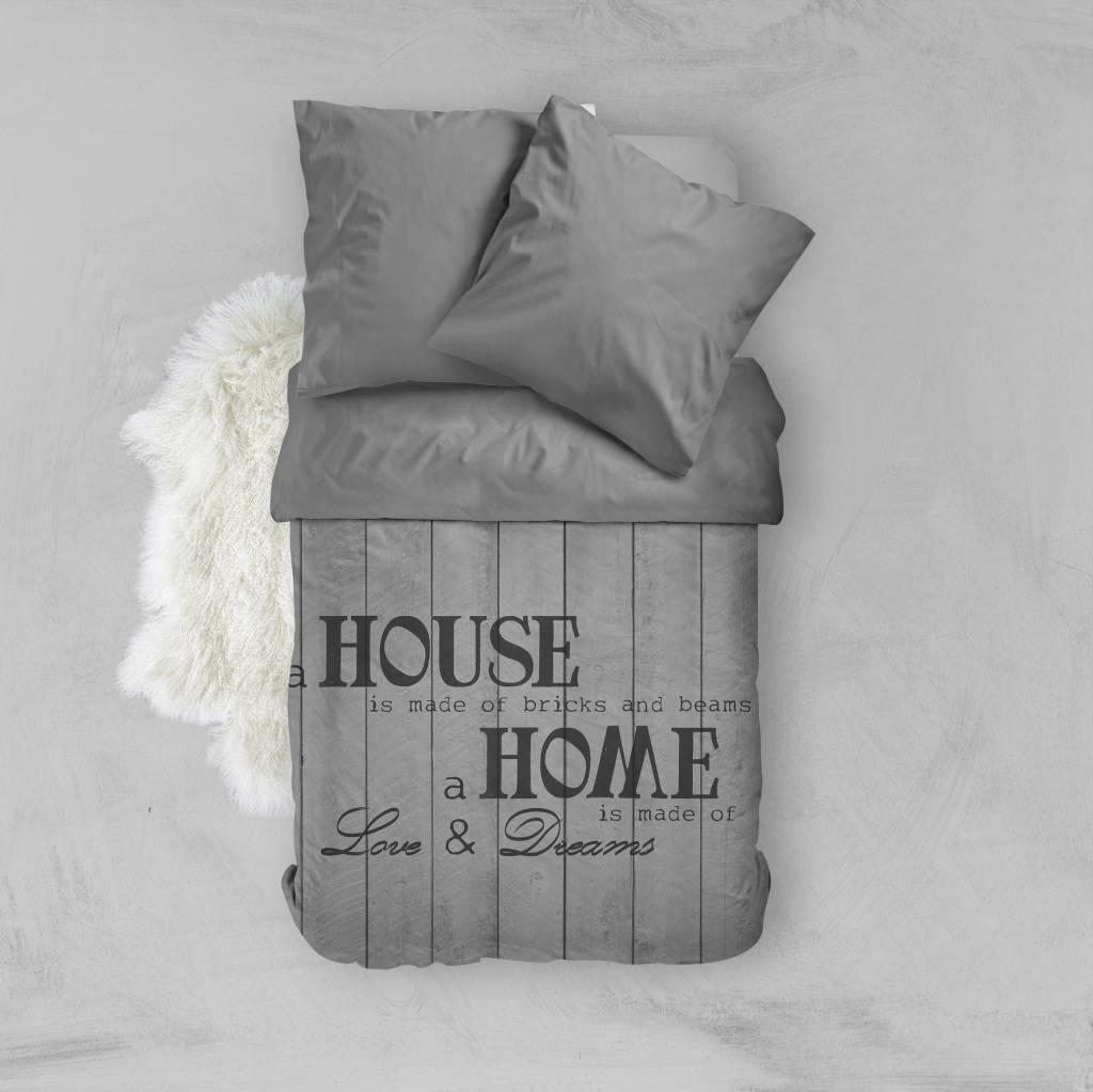 bettw sche house of bricks grau de 135x200 80x80 1 mit reissverschluss nightlifeliving. Black Bedroom Furniture Sets. Home Design Ideas