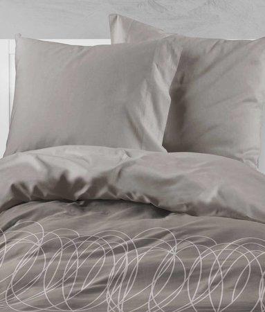 Wake-Up! Bedding Bettwasche Swirl Braun - DE - 80x80 mit Reissverschluss