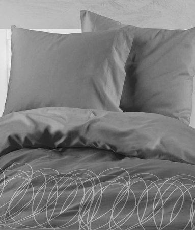 Wake-Up! Bedding Bettwasche Swirl Dunkelgrau - DE
