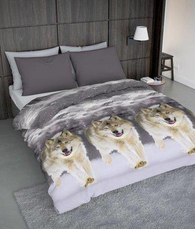 Wake-Up! Bedding Bettwäsche Ice Wolf - DE - 135x200 - 80x80 (1) mit Reissverschluss