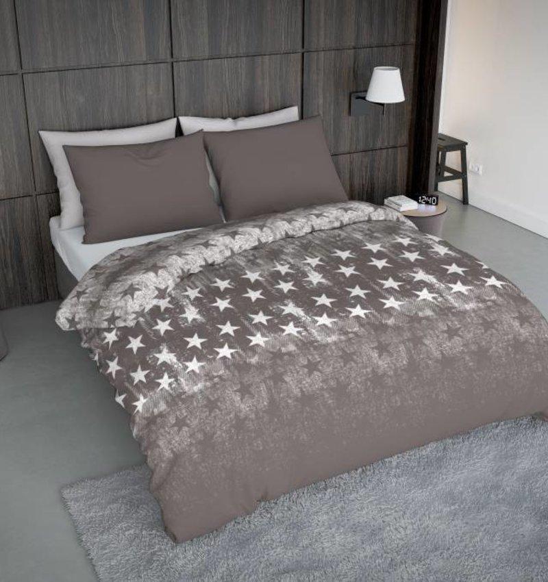 Wake-Up! Bedding Bettwäsche Fade Star Braun - DE - 135x200 - 80x80 (1) mit Reissverschluss