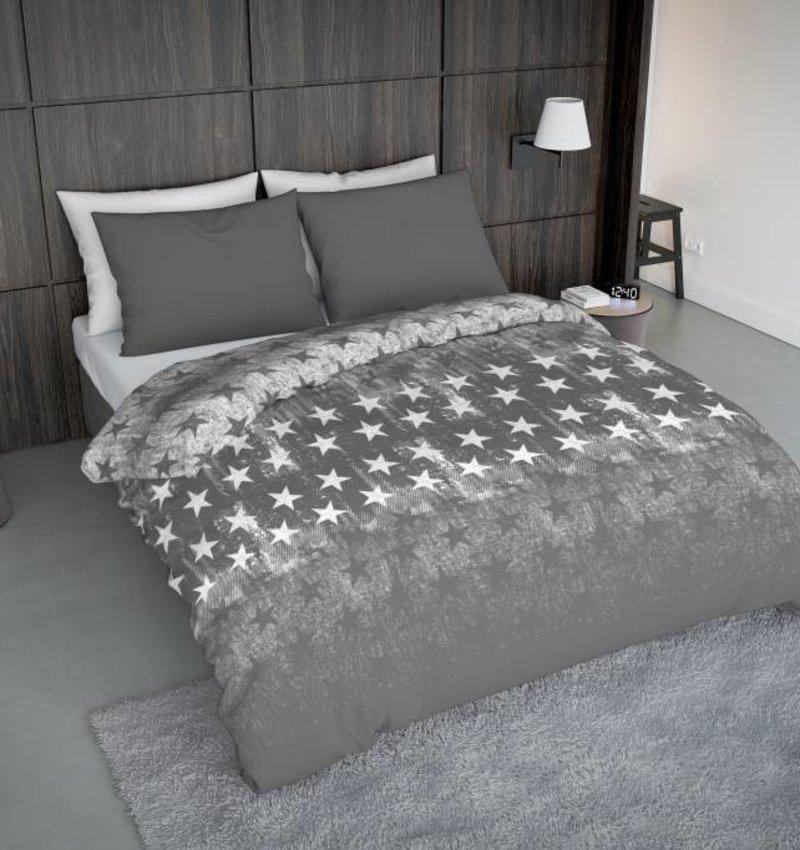 Wake-Up! Bedding Bettwäsche Fade Star Grau - DE - 135x200 - 80x80 (1) mit Reissverschluss