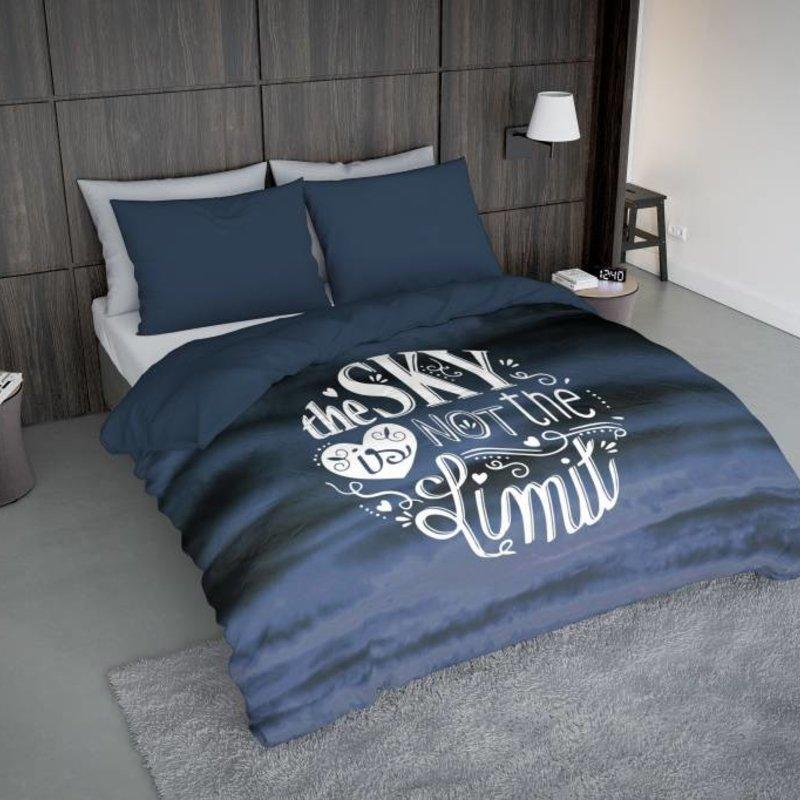 Nightlife Concept Bettwäsche Sky Blau  - DE - 135x200 - 80x80 (1) mit Reissverschluss