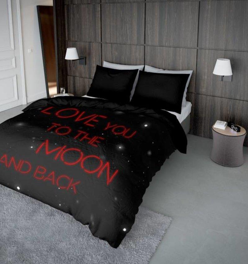 Nightlife Concept Bettwäsche Lovemoon Neon Rot - DE - 80x80 mit Reissverschluss