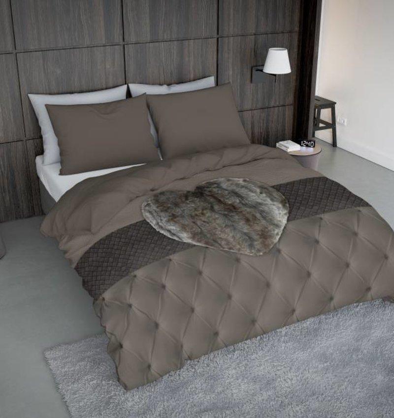 Nightlife Concept Bettwäsche Fur Heart Braun  - DE - 135x200 - 80x80 (1) mit Reissverschluss