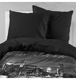 Nightlife Bettwäsche New York Skyline Schwarz - DE - 135x200 - 80x80 (1) mit Reissverschluss