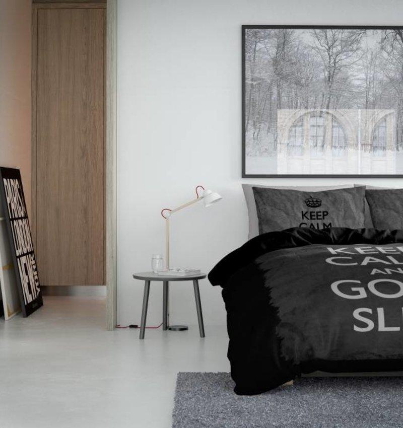 Nightlife Concept Bettwäsche Keep Calm Schwarz - EU