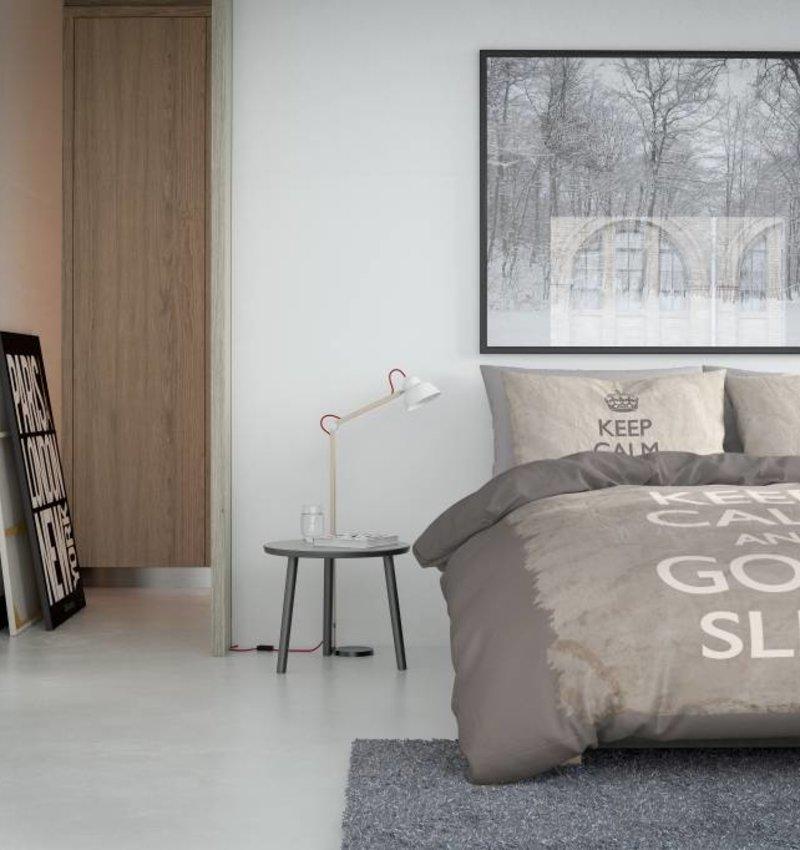 Nightlife Concept Bettwäsche Keep Calm Braun - EU