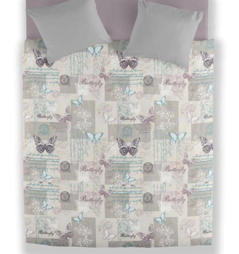 Wake-Up! Bedding Bettwäsche Butterfly Pastel - DE - 135x200 - 80x80 (1) mit Reissverschluss