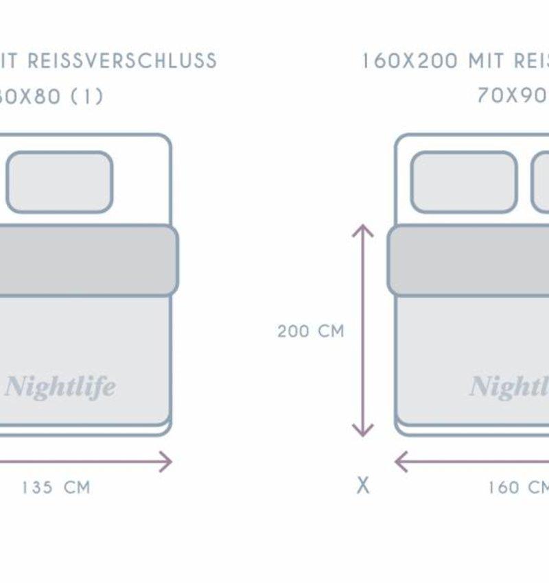 Nightlife Concept Bettwäsche Cow Schwarz - PL - 160x200