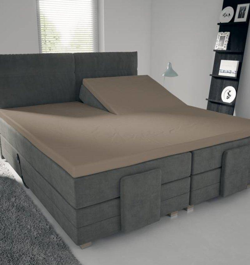 spannbettlaken fur split topper braun nightlifeliving. Black Bedroom Furniture Sets. Home Design Ideas