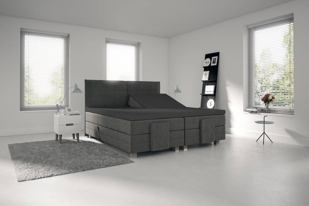 spannbettlaken fur split topper dunkelgrau nightlifeliving. Black Bedroom Furniture Sets. Home Design Ideas