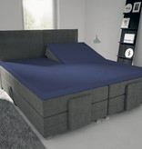 Nightlife Blue Spannbettlaken fur Split Topper Blau