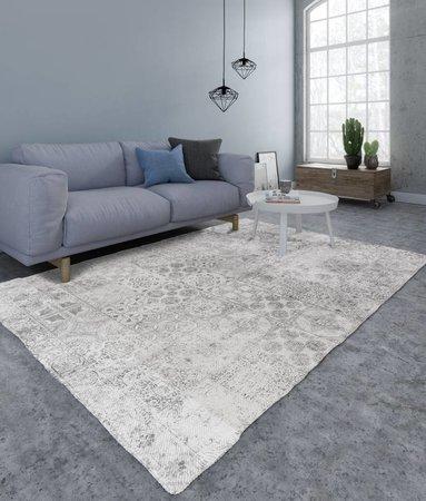 Nightlife Home Teppich Mozaik Grau