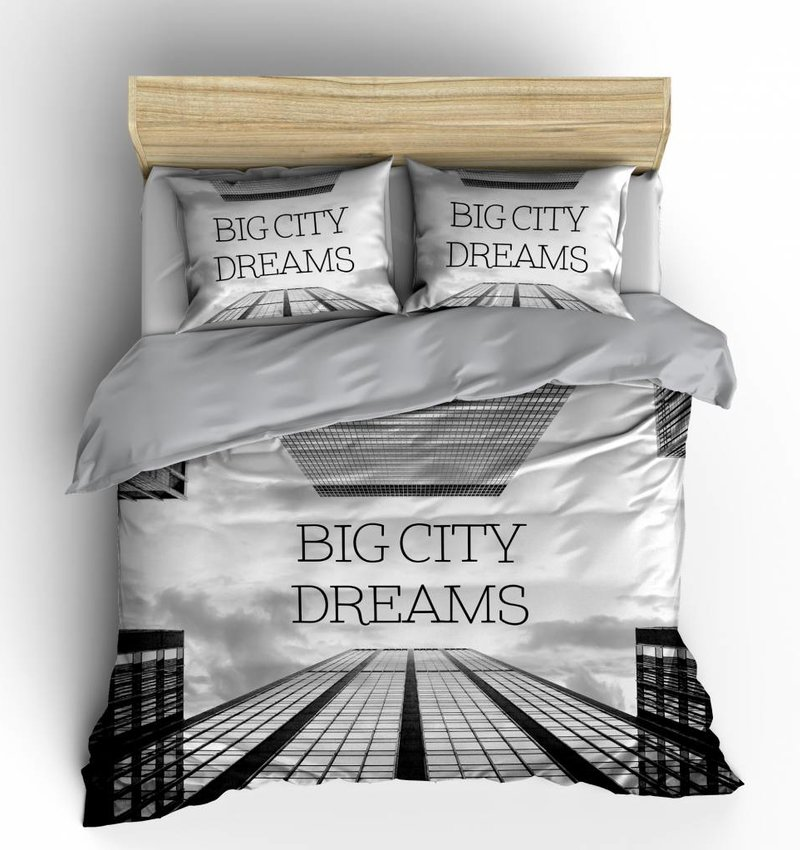 Nightlife Blue Bettwäsche Big City Dreams Grau - EU
