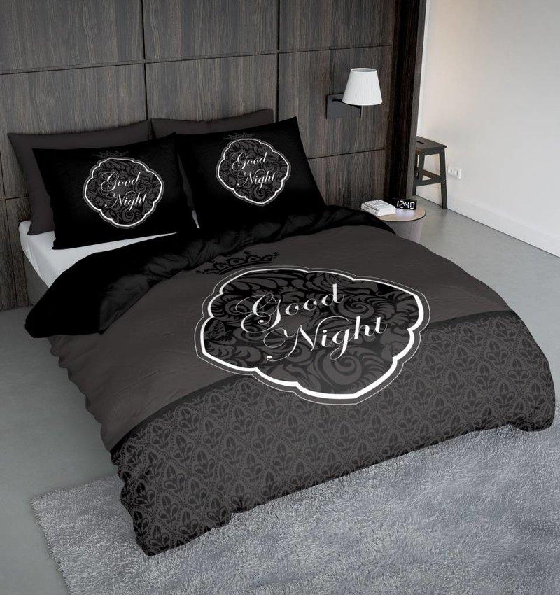 Nightlife Concept Bettwäsche Goodnight Barok Schwarz 140x200/220 60x70 (1)