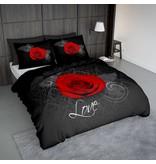 Nightlife Concept Bettwäsche Roos Met Barok Schwarz und Rot 200x200/220 60x70 (2)