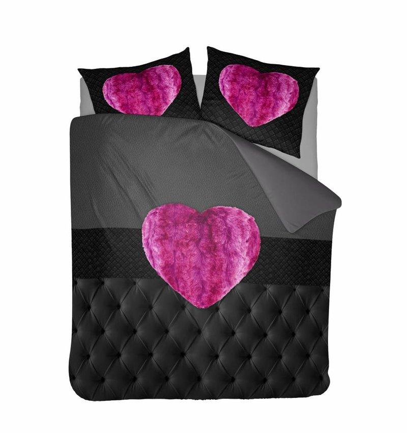 Nightlife Concept Bettwäsche Fur Heart Fuchsia Rosa 140x200/220 60x70 (1)