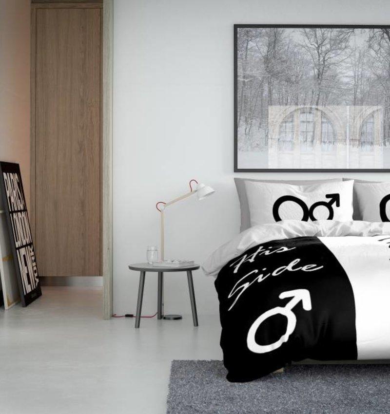 Nightlife Concept Bettwäsche His Side / Her Side Weiss Und Schwarz 240x200/220 60x70 (2)
