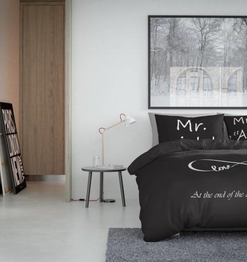 Nightlife Concept Bettwäsche Infinity Dunkelgrau 240x200/220 60x70 (2)