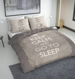 Nightlife Concept Bettwäsche Keep Calm Braun 200x200/220 60x70 (2)