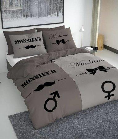 Nightlife Moustache Monsieur Et Madame Braun 200x200/220 60x70 (2)