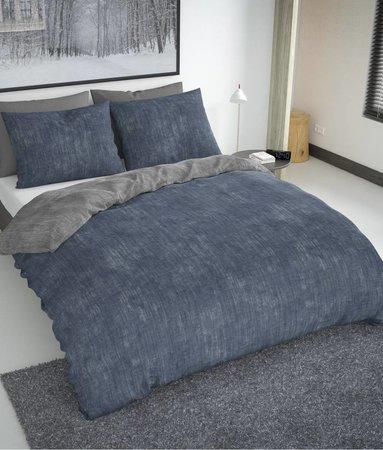 Nightlife Fresh Washcotton Blau Grau 200x200/220 60x70 (2)