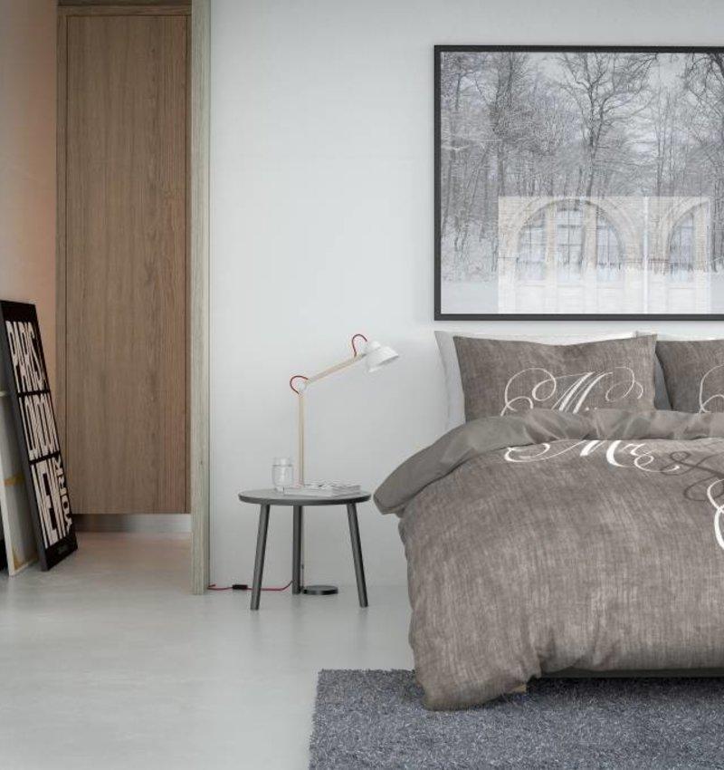 Nightlife Blue Bettwäsche Love Couple Braun 140x200/220 60x70 (1)