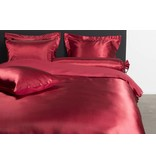 Nightlife Silk Bettwäsche Satin Uni Rot 200x200/220 60x70 (2)
