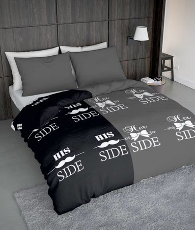 Wake-Up! Bedding Snorry Grau 140x200/220 60x70 (1)