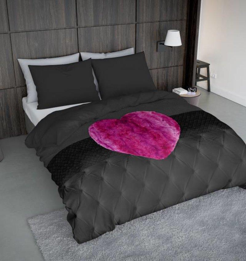 Nightlife Concept Bettwäsche Fur Heart Fuchsia Rosa 200x200 80x80 (2) mit Reissverschluss