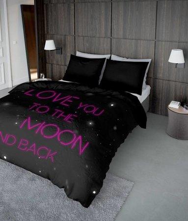 Nightlife Concept Lovemoon Neon Rosa 200x200 80x80 (2) mit Reissverschluss
