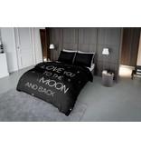 Nightlife Concept Bettwäsche Lovemoon Neon Weiss 200x200 80x80 (2) mit Reissverschluss