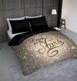 Nightlife Concept Bettwäsche Reach Stars Gold 200x200 80x80 (2) mit Reissverschluss