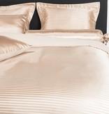Nightlife Silk Bettwäsche Satin Stripe Braun 200x200 80x80 (2) mit Reissverschluss