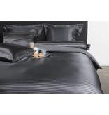 Nightlife Silk Bettwäsche Satin Stripe Dunkelgrau 200x200 80x80 (2) mit Reissverschluss