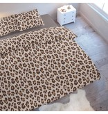 Wake-Up! Bedding Bettwäsche Leopard Brown 200x200 80x80 (2) mit Reissverschluss