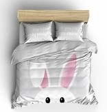 Nightlife Concept Bettwäsche Bunny Grau 140x200/220 60x70 (1)