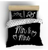Nightlife Concept Bettwäsche Mr and Mrs Schwarz 200x200/220 60x70 (2)