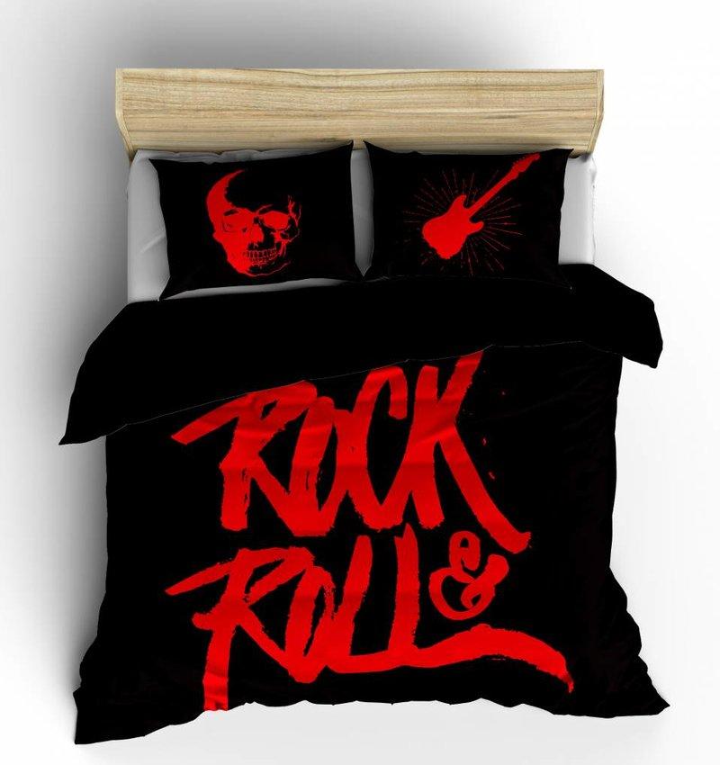 Nightlife Concept Bettwäsche Rock N Roll Rot 140x200/220 60x70 (1)