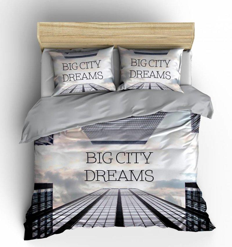 Nightlife Blue Bettwäsche Big City Dreams Multi 140x200/220 60x70 (1)
