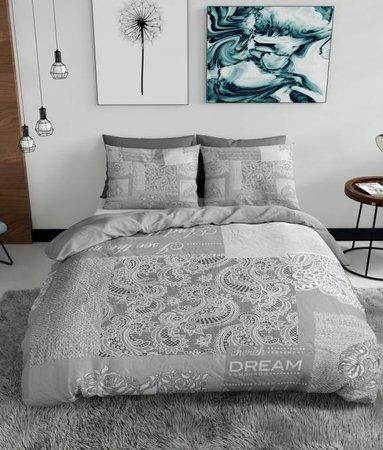 Nightlife Blue Barok Patchwork Grau 200x200/220 60x70 (2)